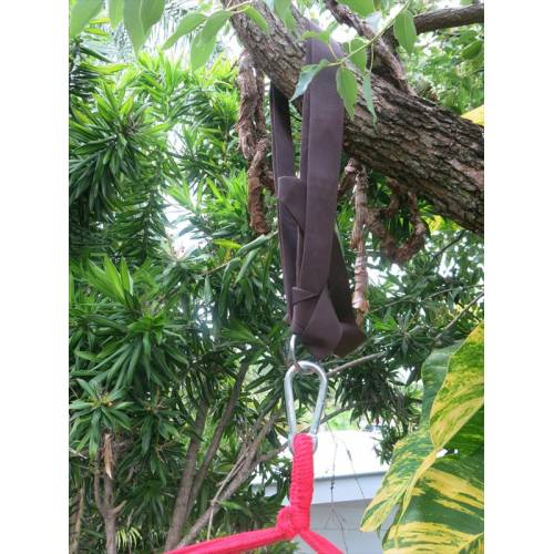 Red and Purple Canvas Hammock Chair Tree Strap