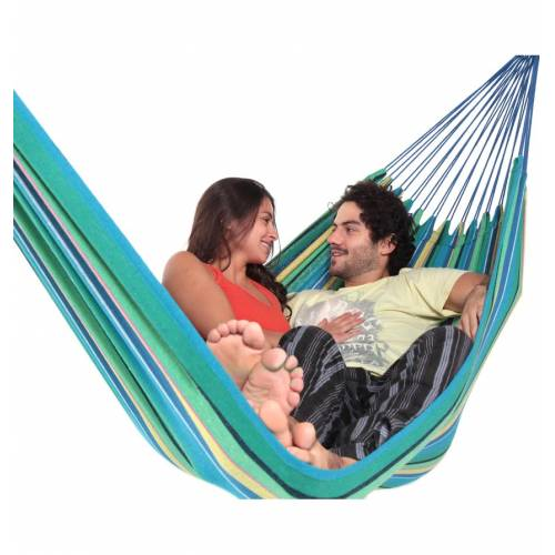 Large Teal Blue Canvas Hammock Zoomed