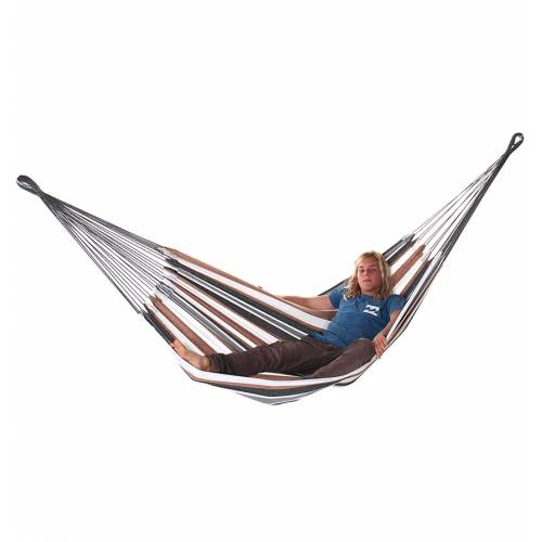Medium Brown and White Canvas Hammock