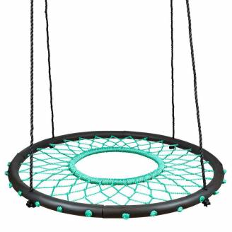100cm Teal Web Nest Tire Swing
