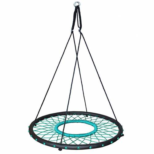 100cm Teal Web Nest Tire Swing Heavenly Hammocks