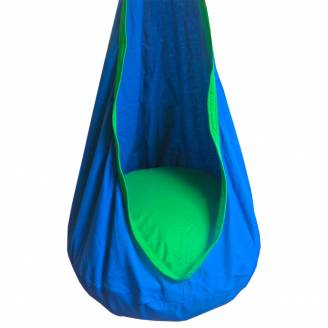 Blue and Green Kids Sensory Swing Pod Chair