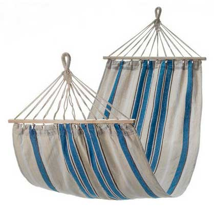 small blue and white canvas hammock with spreader bar small blue and white canvas hammock with spreader bar   heavenly      rh   heavenlyhammocks   au