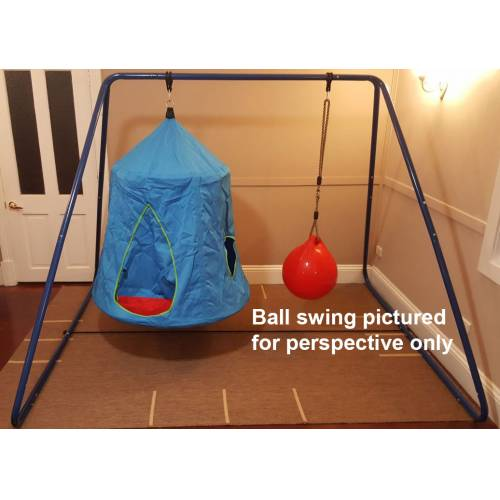 Blue Hangout Hanging Nest With Swing Set Stand Heavenly