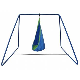 Blue and Green Waterproof Sensory Swing with Swing Set Stand