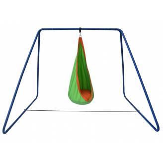 Green and Orange Waterproof Sensory Swing with Swing Set Stand