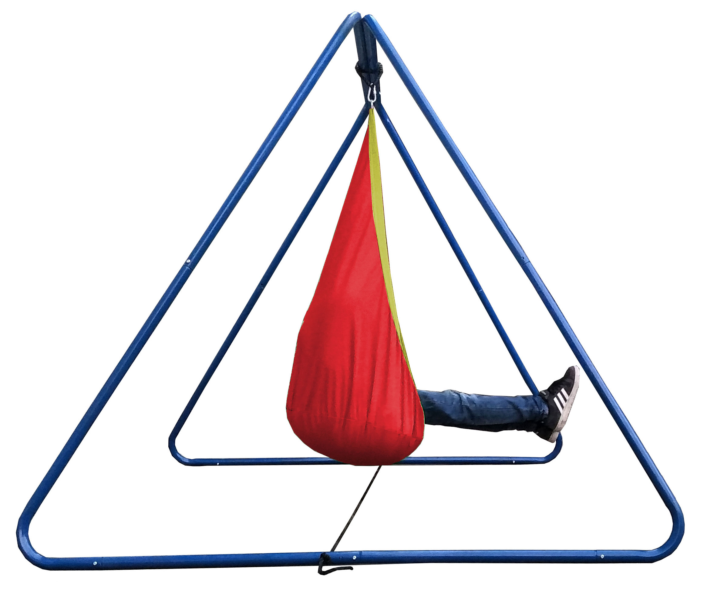 Red And Yellow Waterproof Sensory Swing With Swing Set