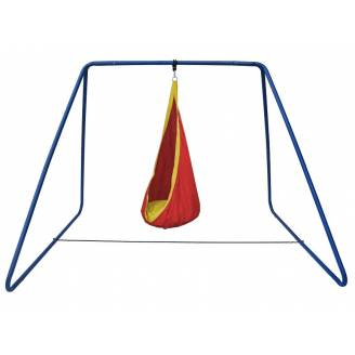 Red and Yellow Waterproof Sensory Swing with Swing Set Stand