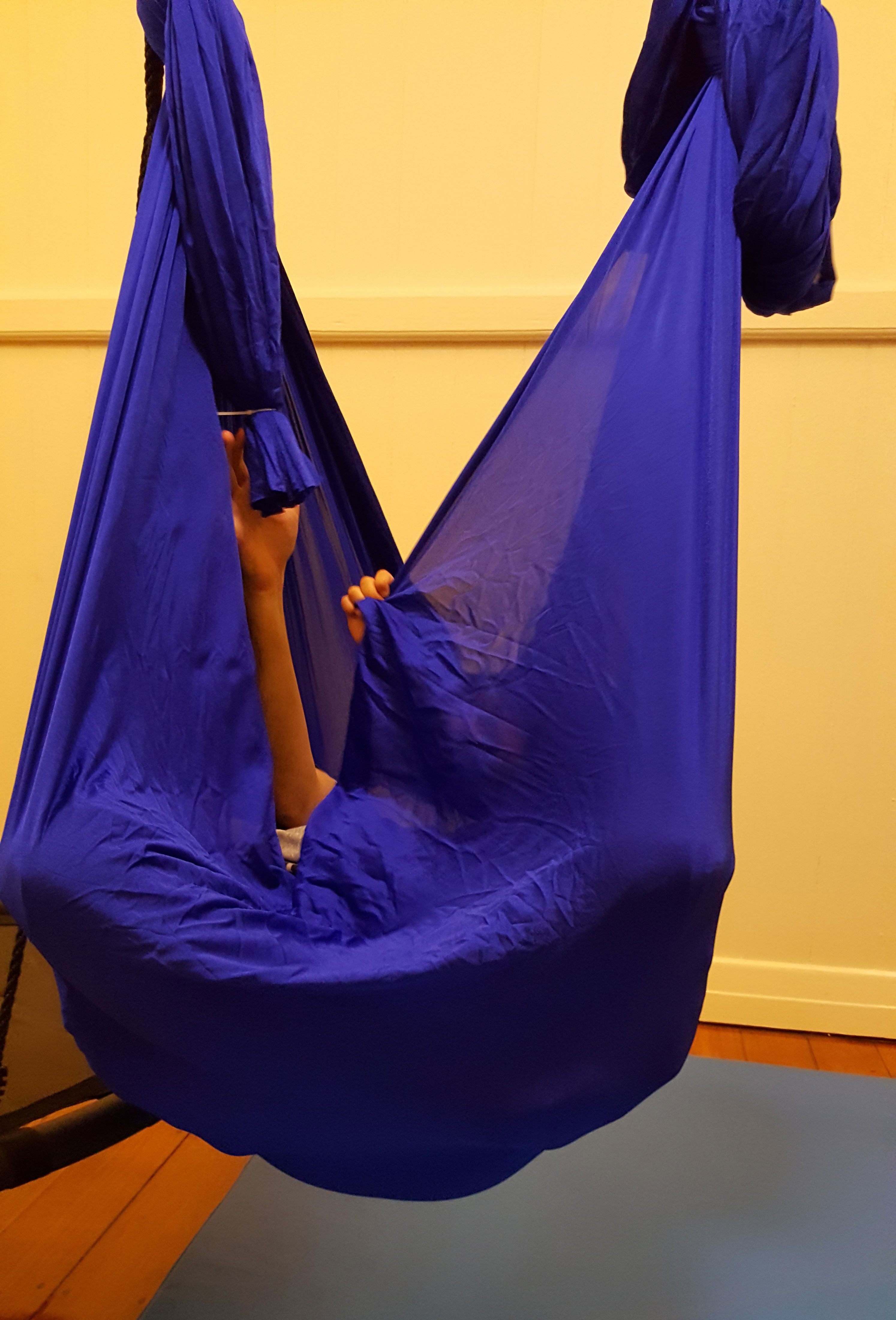 Large Blue Nylon Wrap Therapy Swing 450x250cm Heavenly