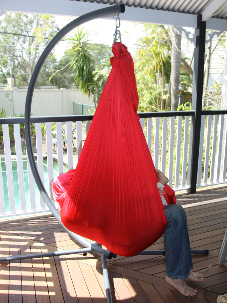 Large Red Nylon Wrap Therapy Swing 450x250cm Heavenly