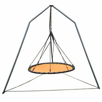 150cm Orange Mat Nest Swing with Tripod Stand