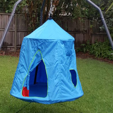 Blue Hangout Hanging Nest With Tripod Stand Heavenly