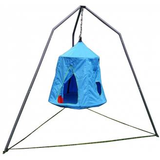 Blue Hangout Hanging Nest with Tripod Stand