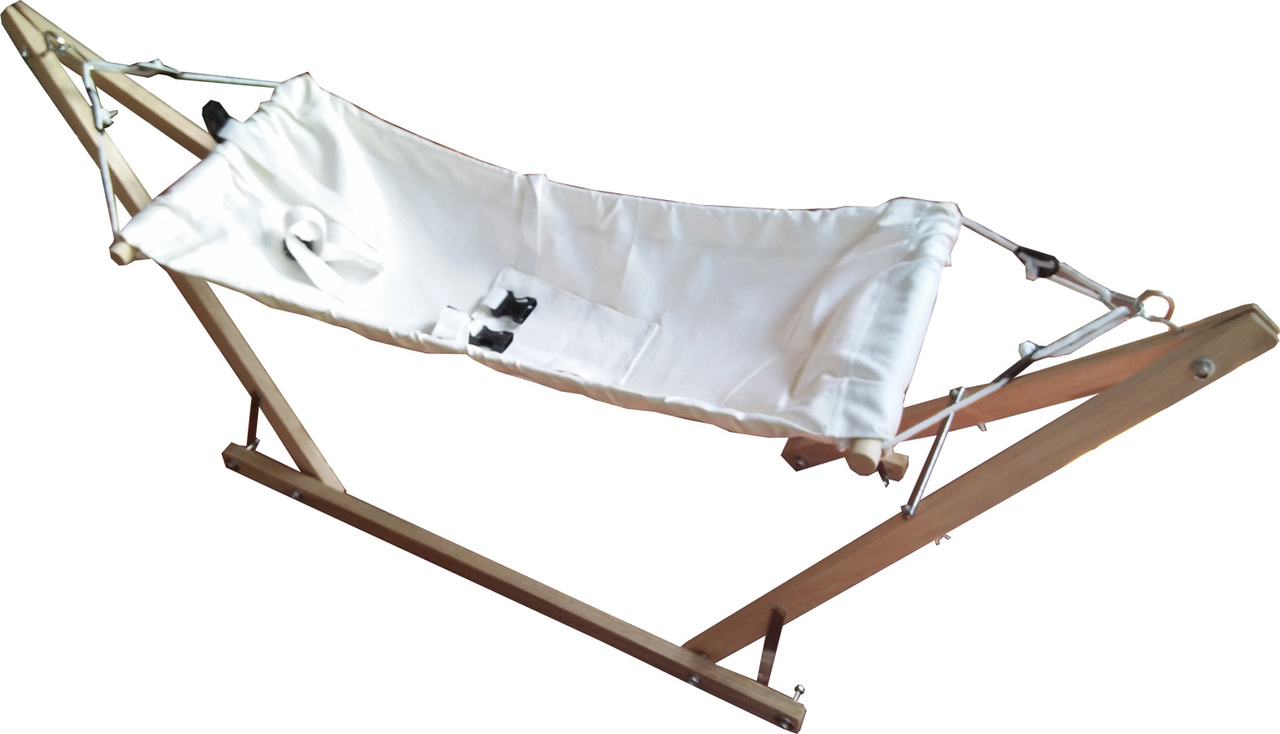 Medium image of free standing baby hammock