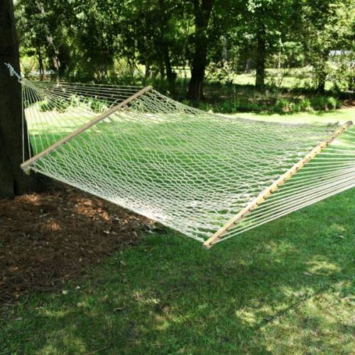 White Rope Hammock with Tree