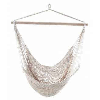 Large White Cotton Rope Hammock Chair