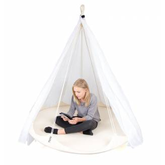 White TiiPii Floating Bed with Mosquito Net