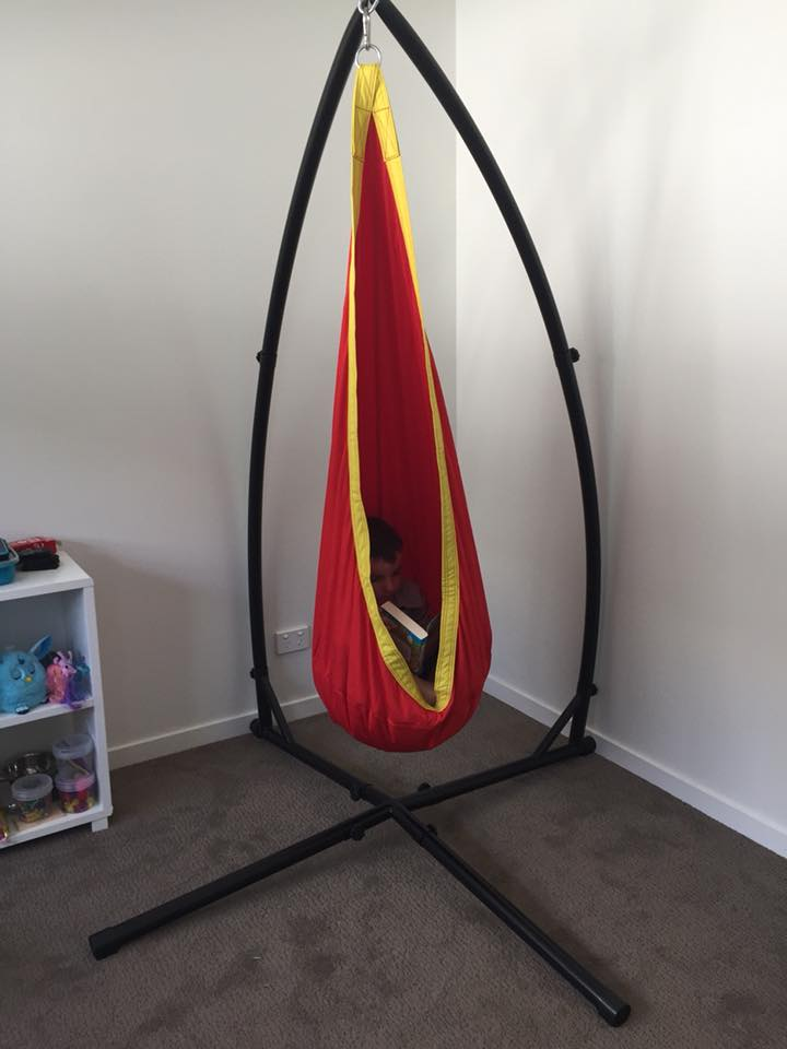 Red And Yellow Waterproof Sensory Swing With Stand