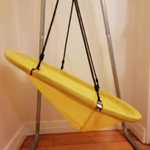 Yellow Oval Seat Swing Heavenly Hammocks